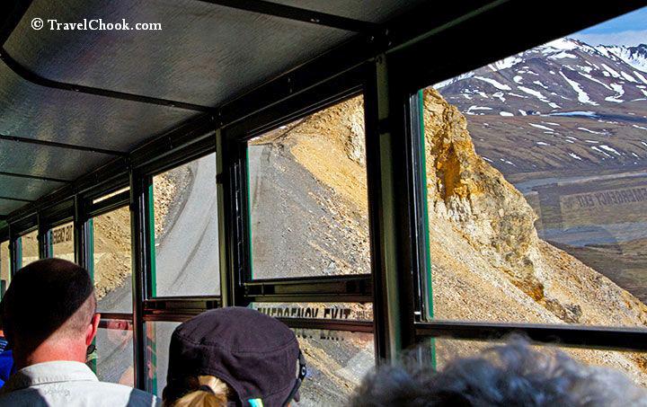 View from denalis green shuttle bus