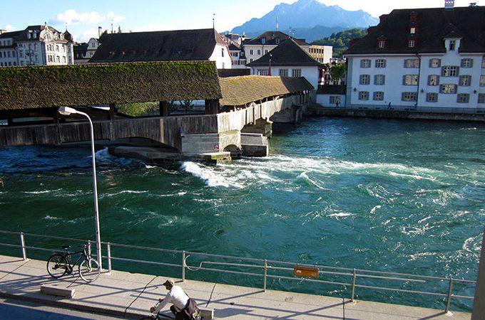 River Reuss in Lucerne