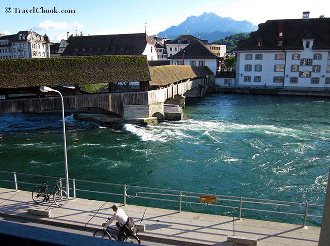 River Reuss in Lucerne