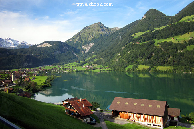 Lungern - train ride scenery