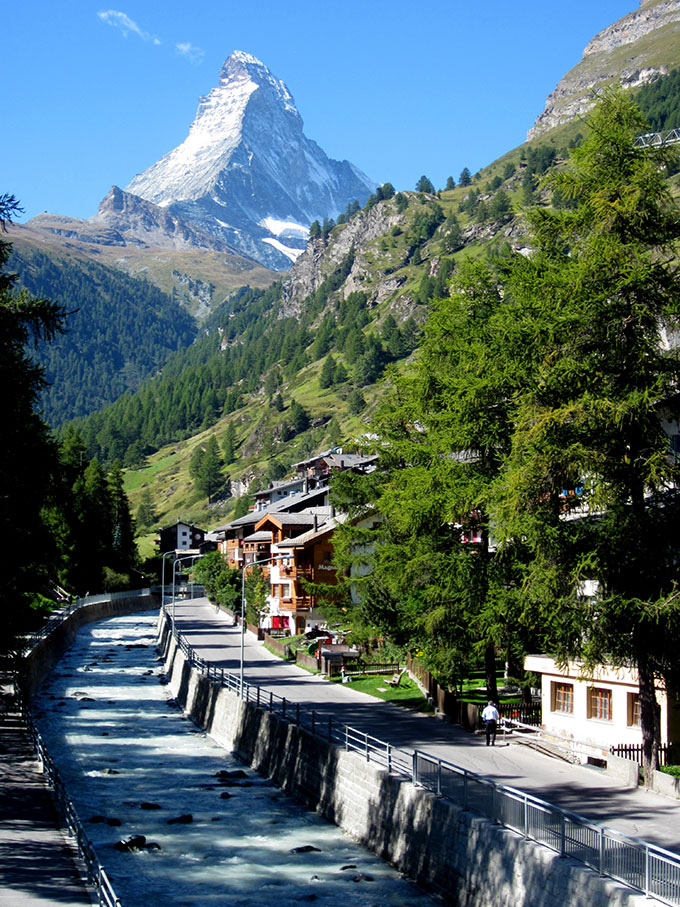 Matterhorn mountain in Zermatt
